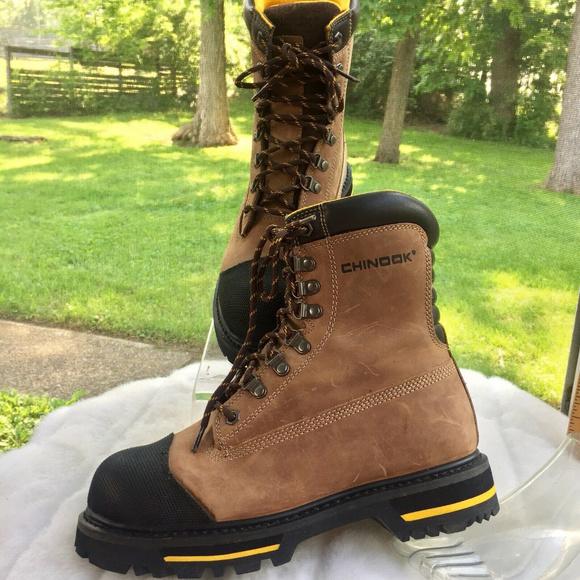 23fd4f8d489 Chinook Mens Tarantula Leather Steel Toe Boots